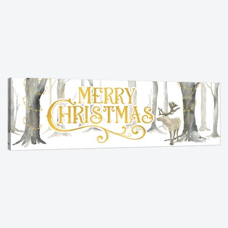 Christmas Forest panel I-Merry Christmas Canvas Print #TRE289} by Tara Reed Canvas Art