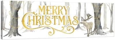 Christmas Forest panel I-Merry Christmas Canvas Art Print