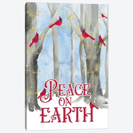 Christmas Forest portrait II-Peace on Earth Canvas Print #TRE291} by Tara Reed Canvas Print