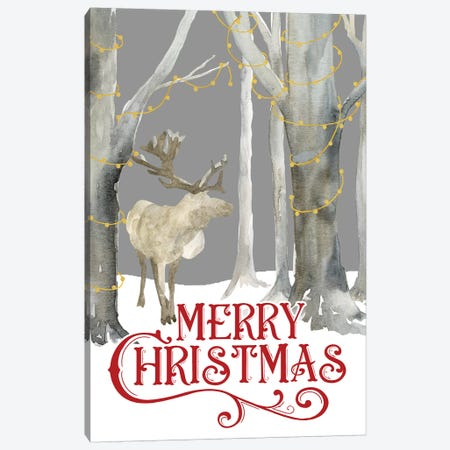 Christmas Forest portrait I-Merry Christmas Canvas Print #TRE292} by Tara Reed Canvas Art Print