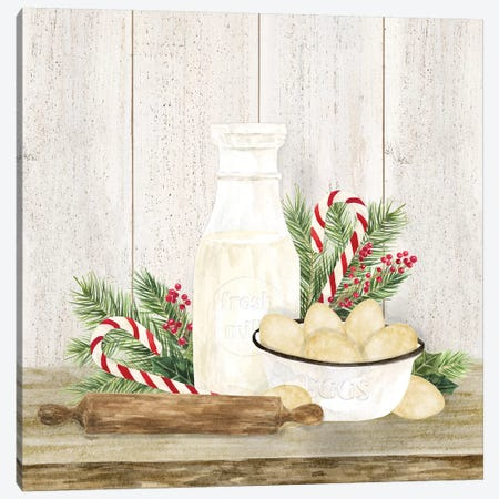 Christmas Kitchen II Canvas Print #TRE294} by Tara Reed Canvas Wall Art