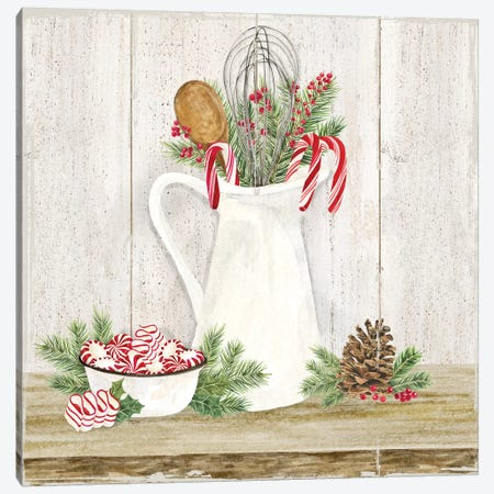 Christmas Kitchen III Canvas Print #TRE295} by Tara Reed Canvas Wall Art