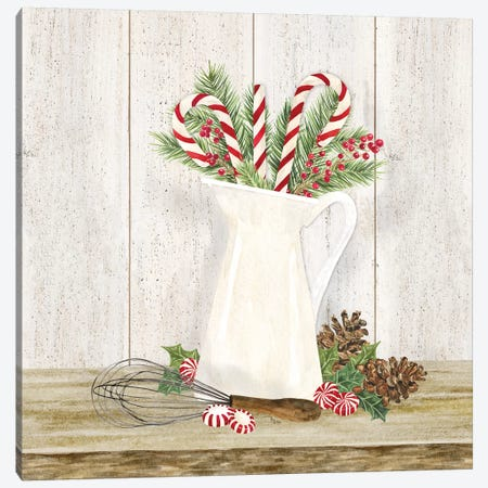 Christmas Kitchen IV Canvas Print #TRE296} by Tara Reed Canvas Wall Art