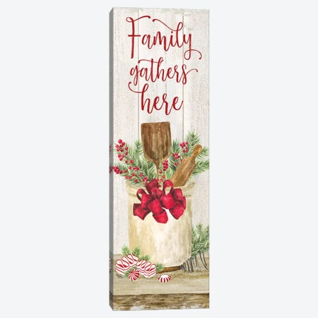 Christmas Kitchen panel I-Family Gathers Canvas Print #TRE297} by Tara Reed Canvas Artwork