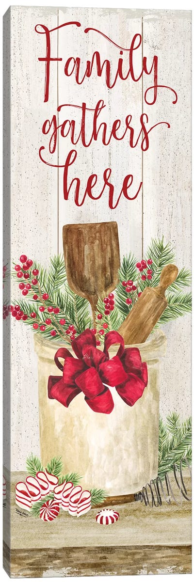 Christmas Kitchen panel I-Family Gathers Canvas Art Print