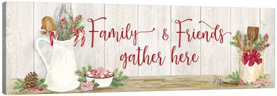 Christmas Kitchen panel III-Family and Friends Canvas Art Print