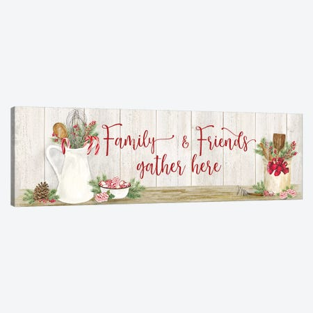 Christmas Kitchen panel III-Family and Friends Canvas Print #TRE298} by Tara Reed Canvas Art Print