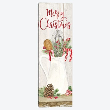 Christmas Kitchen panel II-Merry Christmas Canvas Print #TRE299} by Tara Reed Canvas Print
