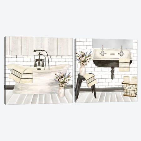 Farmhouse Bath Diptych Canvas Print Set #TRE2HSET001} by Tara Reed Canvas Art