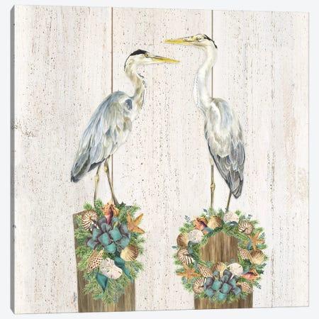 Christmas on the Coast Aqua I Canvas Print #TRE300} by Tara Reed Canvas Art Print