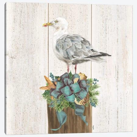 Christmas on the Coast Aqua IV Canvas Print #TRE303} by Tara Reed Art Print