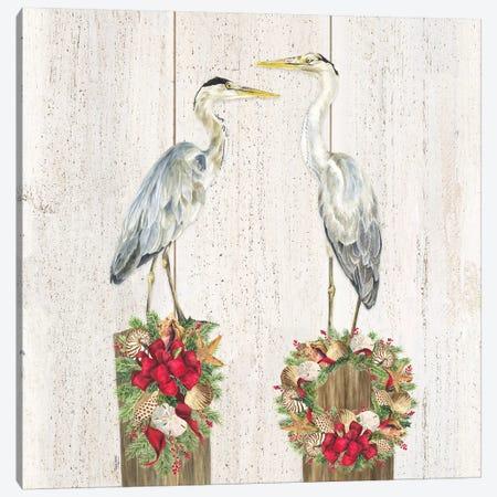 Christmas on the Coast I 3-Piece Canvas #TRE304} by Tara Reed Canvas Art