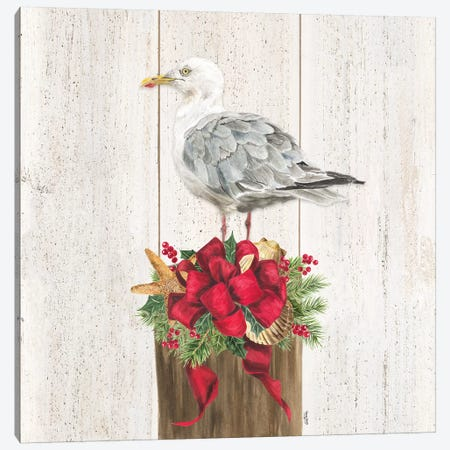Christmas on the Coast IV Canvas Print #TRE307} by Tara Reed Canvas Art