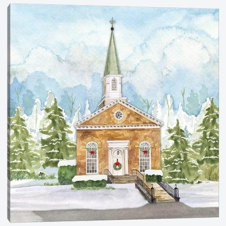 Christmas Village I Canvas Print #TRE308} by Tara Reed Art Print