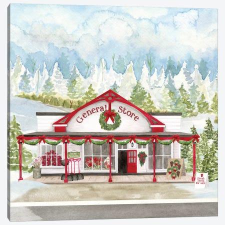 Christmas Village II Canvas Print #TRE309} by Tara Reed Art Print