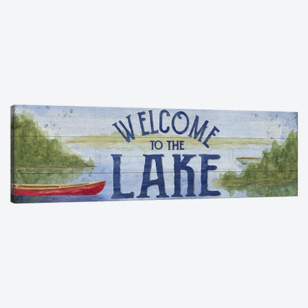 Lake Living Panel I (Welcome Lake) Canvas Print #TRE30} by Tara Reed Canvas Print