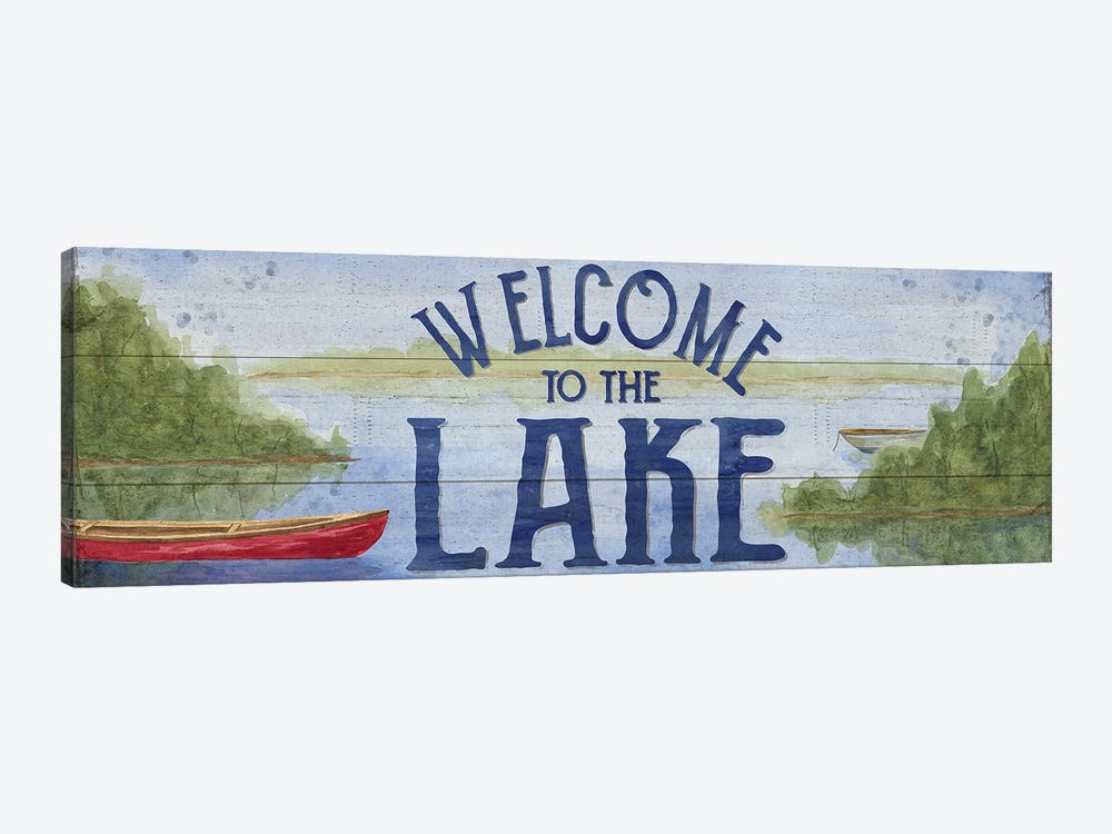 Lake Living Panel I (Welcome Lake) by Tara Reed 1-piece Canvas Art Print