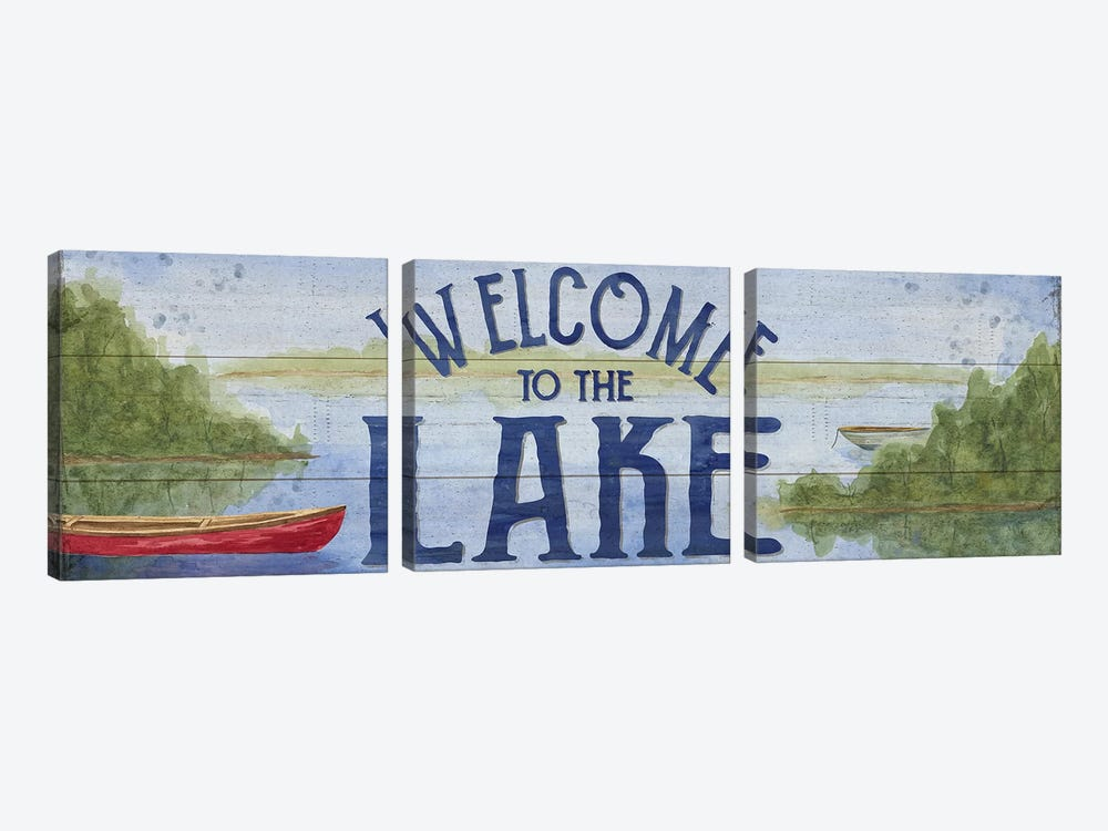 Lake Living Panel I (Welcome Lake) by Tara Reed 3-piece Art Print