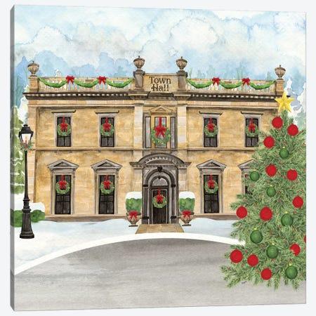 Christmas Village IV Canvas Print #TRE311} by Tara Reed Canvas Wall Art