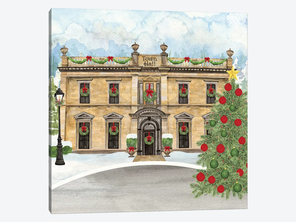 Christmas Village IV by Tara Reed 1-piece Canvas Artwork