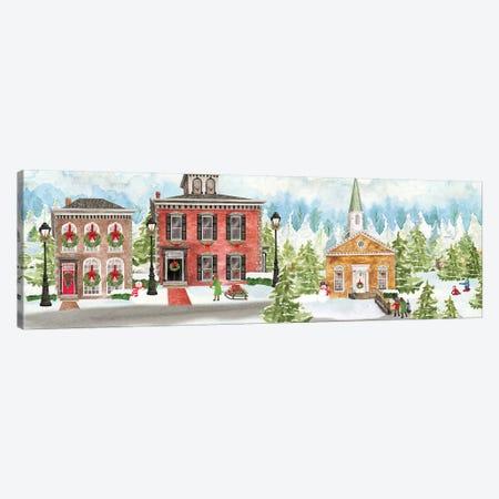 Christmas Village panel I Canvas Print #TRE313} by Tara Reed Canvas Artwork