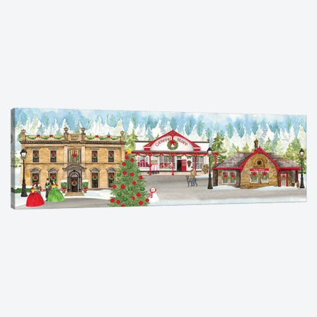 Christmas Village panel II Canvas Print #TRE314} by Tara Reed Canvas Print