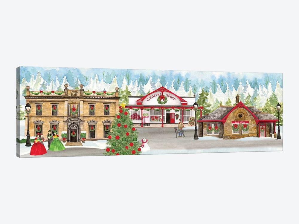 Christmas Village panel II by Tara Reed 1-piece Canvas Art Print