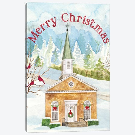 Christmas Village portrait I Canvas Print #TRE315} by Tara Reed Art Print