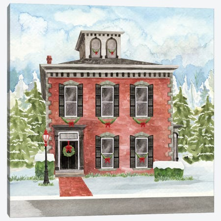 Christmas Village V Canvas Print #TRE317} by Tara Reed Art Print