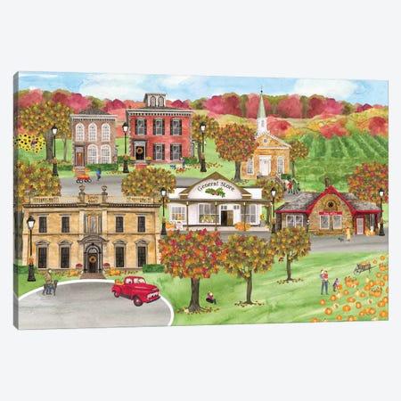 Harvest Village landscape Canvas Print #TRE320} by Tara Reed Canvas Print