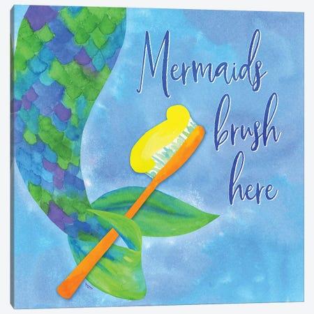 Mermaid Life -Bath I Canvas Print #TRE32} by Tara Reed Canvas Print