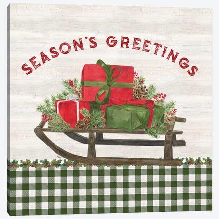 Season of Giving X Canvas Print #TRE346} by Tara Reed Canvas Art