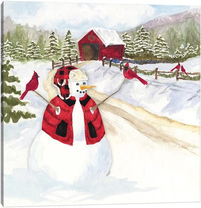 Snowman Christmas III Canvas Art Print