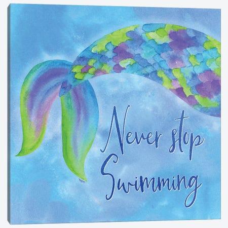 Mermaid Life I Canvas Print #TRE34} by Tara Reed Canvas Wall Art