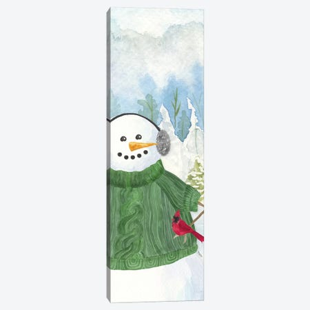 Snowman Christmas vertical I Canvas Print #TRE357} by Tara Reed Canvas Art Print