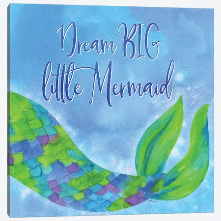 Mermaid Life II Canvas Print #TRE35} by Tara Reed Canvas Art