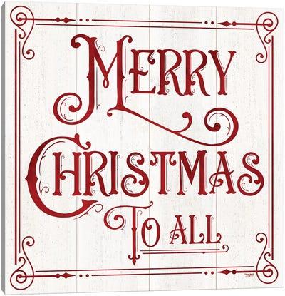 Vintage Christmas Signs IV-Merry Christmas Canvas Art Print