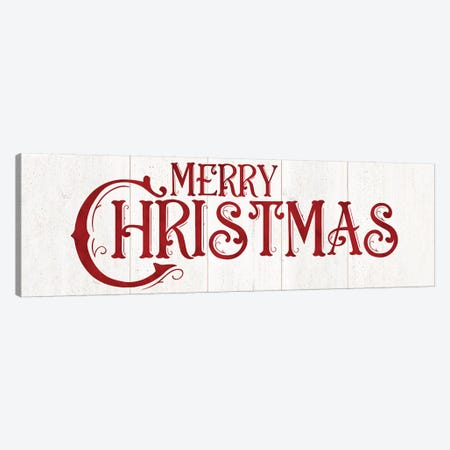 Vintage Christmas Signs panel I-Merry Christmas Canvas Print #TRE365} by Tara Reed Canvas Art