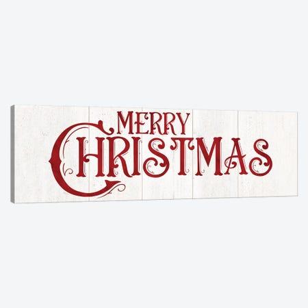 Vintage Christmas Signs panel I-Merry Christmas Canvas Print #TRE365} by Tara Reed Canvas Art