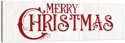 Vintage Christmas Signs panel I-Merry Christmas Canvas Art Print