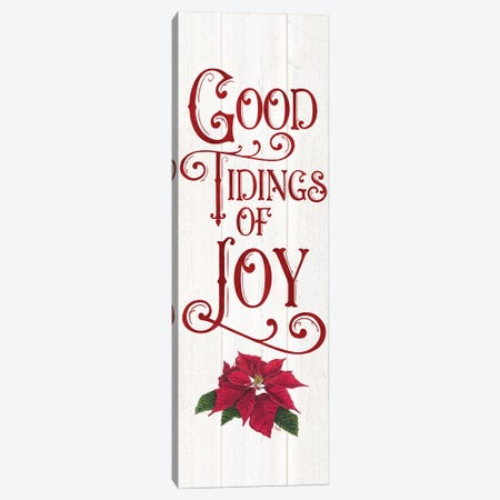 Vintage Christmas Signs panel IV-Tidings of Joy 3-Piece Canvas #TRE366} by Tara Reed Canvas Wall Art