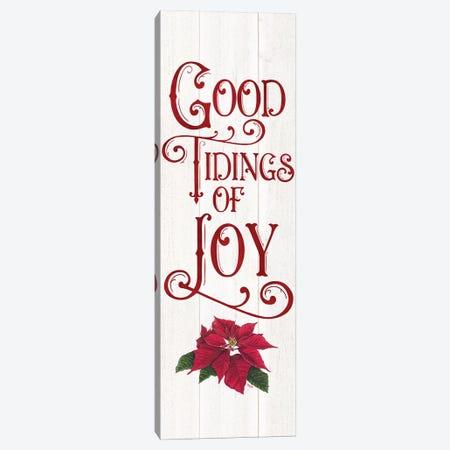 Vintage Christmas Signs panel IV-Tidings of Joy Canvas Print #TRE366} by Tara Reed Canvas Wall Art