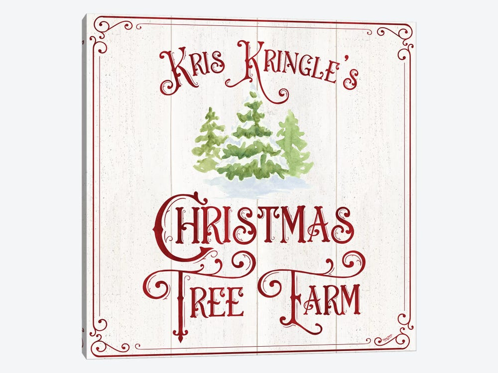Vintage Christmas Signs VI-Tree Farm by Tara Reed 1-piece Art Print