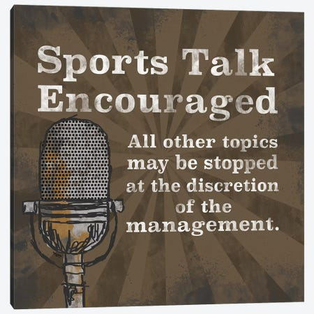 Sports Talk I Canvas Print #TRE373} by Tara Reed Canvas Artwork