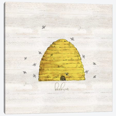 Bee's Life V-Beehive Canvas Print #TRE375} by Tara Reed Canvas Art Print