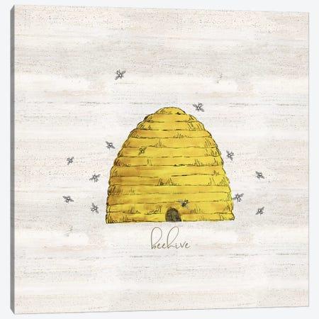 Bee's Life V-Beehive Canvas Print #TRE375} by Tara Reed Canvas Art Print