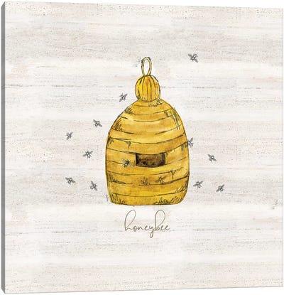 Bee's Life VI-Honeybee Canvas Art Print