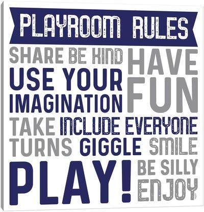 Playroom Rules II Canvas Art Print