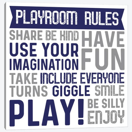 Playroom Rules II Canvas Print #TRE383} by Tara Reed Canvas Print