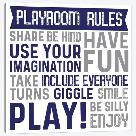 Playroom Rules II Canvas Print #TRE383} by Tara Reed Canvas Print